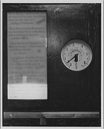 Electric Institute of Washington, Potomac Electric Power Co. Building. Gauge to measure electricity cost I