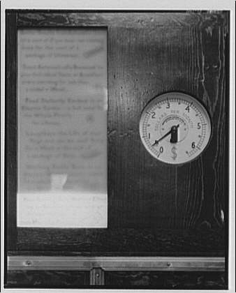 Electric Institute of Washington, Potomac Electric Power Co. Building. Gauge to measure electricity cost II