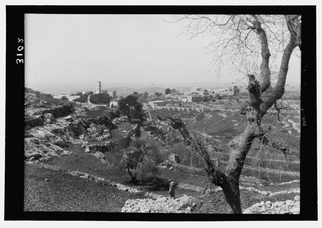 Environs of Jerusalem. El Kubeibeh. Old village and Franciscan monastery