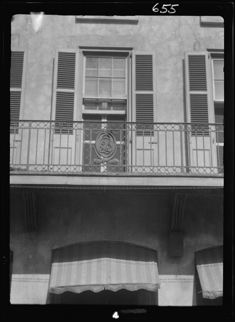 Facade of a multi-story building, New Orleans or Charleston, South Carolina