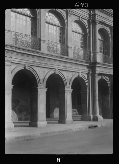 Facade of the Cabildo, the old Spanish town hall, New Orleans