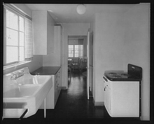 Federal Housing Administration. Kitchen in seven-room house