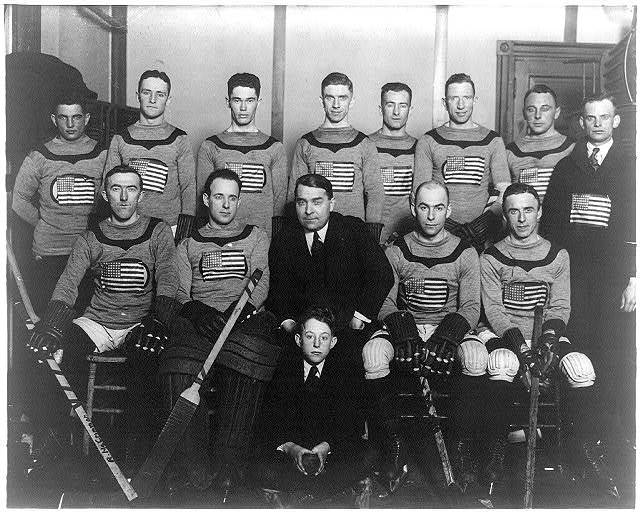 First American Olympic hockey team