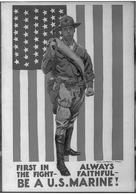 First in the fight. Always faithful. Be a U.S. Marine! / James Montgomery Flagg.