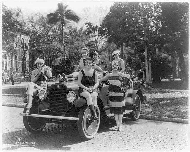 Florida bathing beauties in Columbia Six Sport