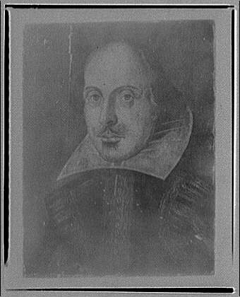 Folger Library copy work. Portrait of Shakespeare