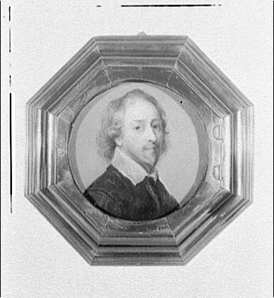 Folger Library copy work. Shakespeare portrait in octagonal frame
