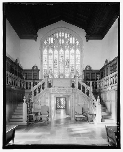 Folger Library interiors. West end of reading room at Folger Library