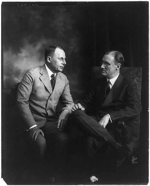 [Franklin D. Roosevelt and Gov. James Cox; both seated, full lgth.]