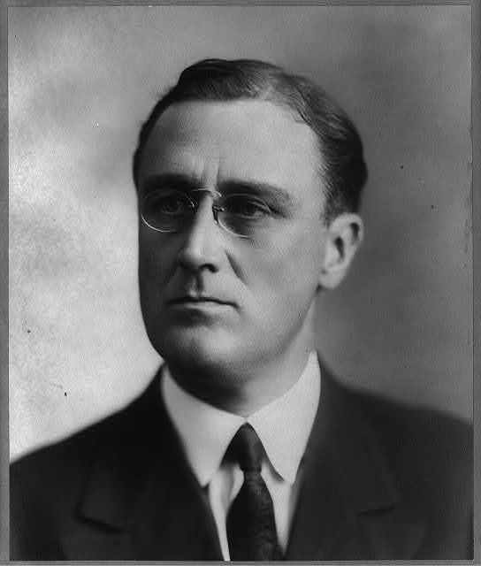 [Franklin Delano Roosevelt, head-and-shoulders portrait, facing slightly left]