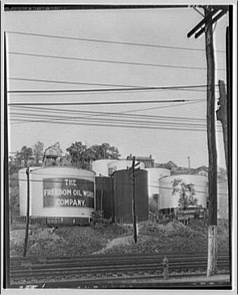 Freedom Oil Works in Freedom, Pennsylvania. Gasoline distillery I
