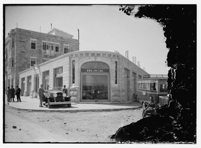 Front of A.C. [i.e., American Colony] buick
