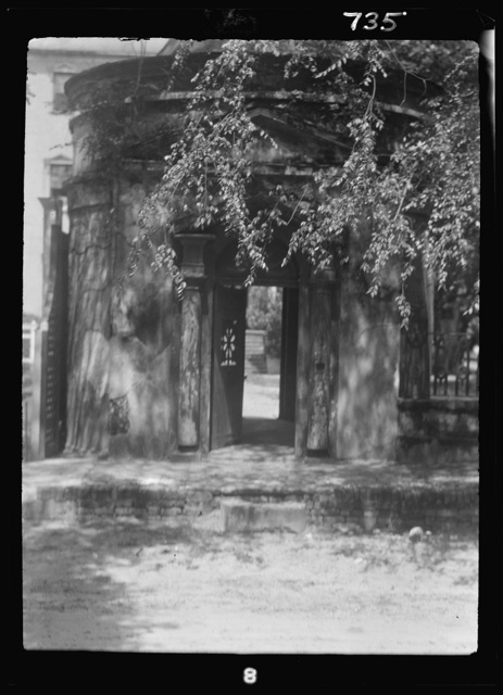 Gatehouse in front of the Joseph Manigault House, 350 Meeting Street, Charleston, South Carolina