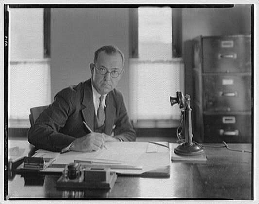 George L. Coyle. Portrait of George L. Coyle at desk I