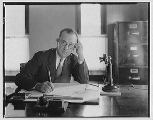 George L. Coyle. Portrait of George L. Coyle at desk II