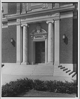 Georgetown Preparatory School. Entrance to Chapel of Our Lady at Georgetown Preparatory School