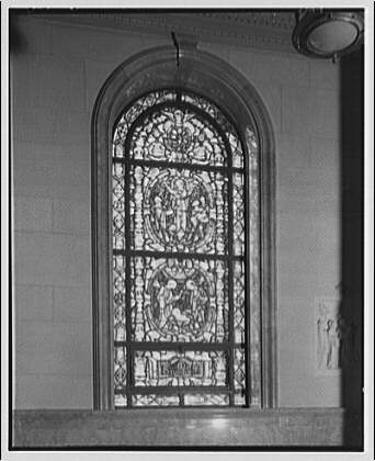 Georgetown Preparatory School. Stained glass window, Georgetown Preparatory School