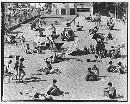 Glen Echo amusement park. Close-up of sand lot, horizontal, Glen Echo