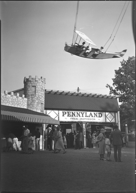 Glen Echo amusement park. Pennyland, Glen Echo