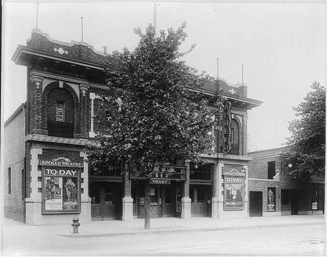 """[Grandall's Apollo Theater, Washington, D.C.; showing Louise Glaum in """"Sex""""]"""