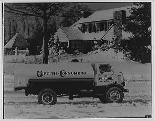 Griffith Consumers Co. Composite of Griffith Consumers Co. oil truck and winter scene