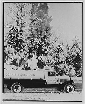 Griffith Consumers Co. Truck snow scene