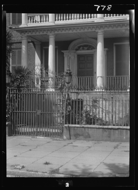Ground floor of a multi-story house, New Orleans or Charleston, South Carolina