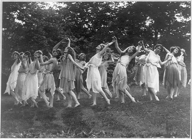 [Group of girls in Greek dance]