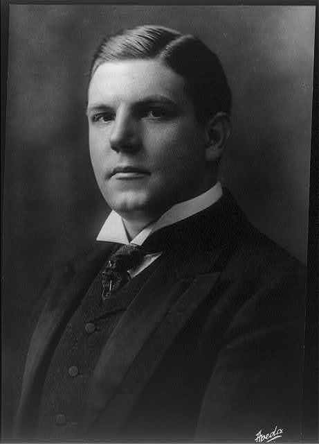 [Gustav Bergman, bust portrait, facing left]
