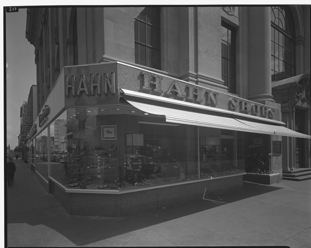 Hahn Shoes. Exterior of Hahn Shoes