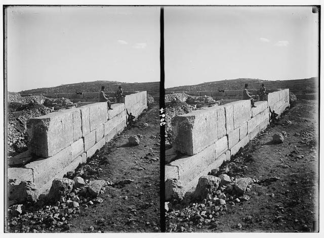 Hebron and surroundings. Ramet el Khalil. Herodian wall encircling the ruins