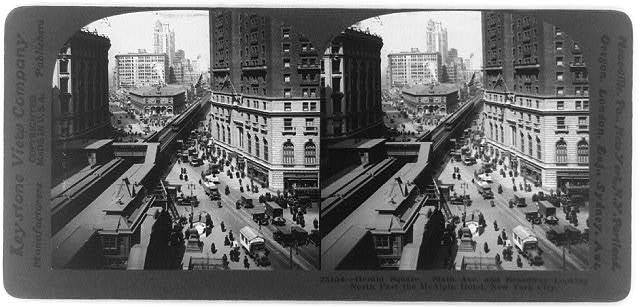 Herald Square, Sixth Ave. and Broadway, looking north past the McAlpin Hotel, New York City