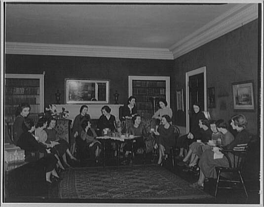 Holton Arms School. Tea party at Holton Arms School