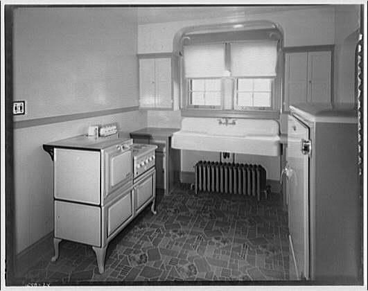 House at 1111 Seminary Rd., Montgomery Hills, Maryland. Kitchen of house at 1111 Seminary Rd.