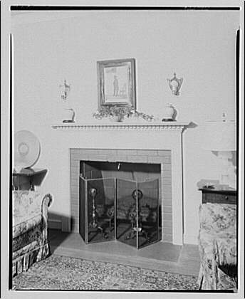 House at 2 Leland St., Maryland, F.J. Fisher Properties or Chevy Chase Land Co. Fireplace in house at 2 Leland St.
