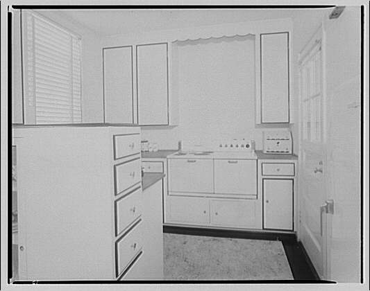 House at 2 Leland St., Maryland, F.J. Fisher Properties or Chevy Chase Land Co. Kitchen in house at 2 Leland St.