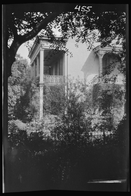 House, possibly in the Uptown area, New Orleans or Charleston, South Carolina