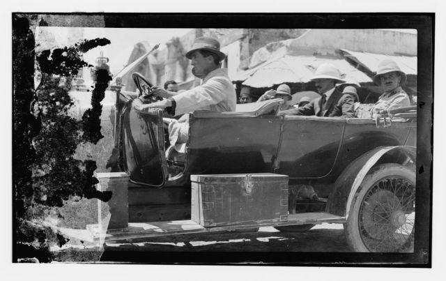 H.S. [i.e., Herbert Samuel] in auto, July 1920