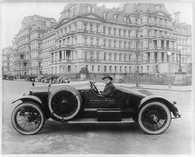 Hudson Super Six racing car in Washington, D.C. [in front of the State, Navy and War Dept.]