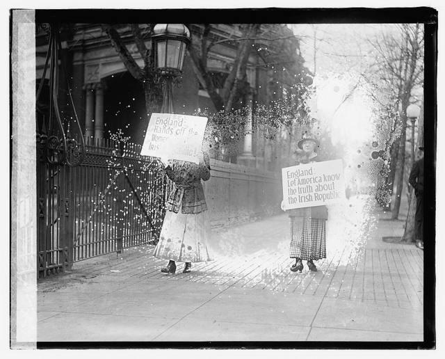 Irish Demonstration, British Embassy