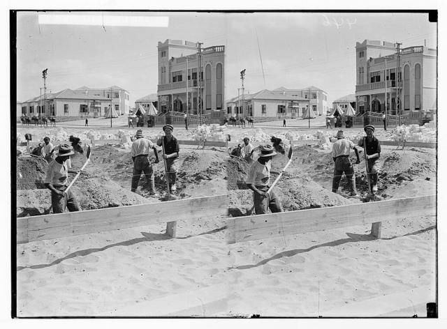Jewish colonies and settlements. Tel Aviv. Preparing for a building