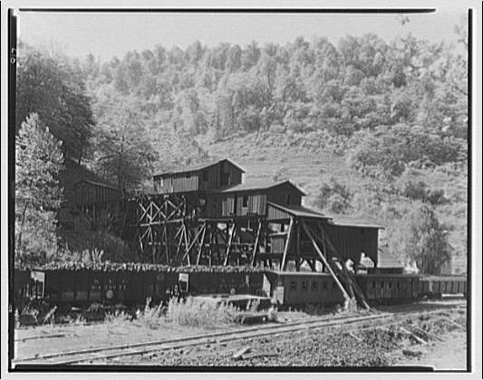 Kelly Creek, West Virginia. Coal mine tipple