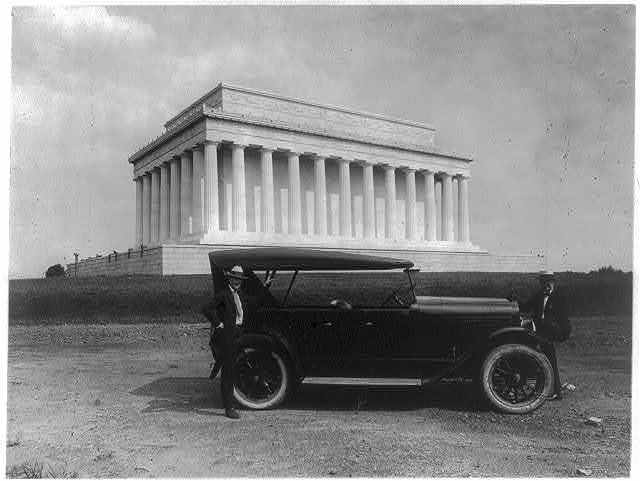 King car parked near Lincoln Memorial, Washington, D.C.