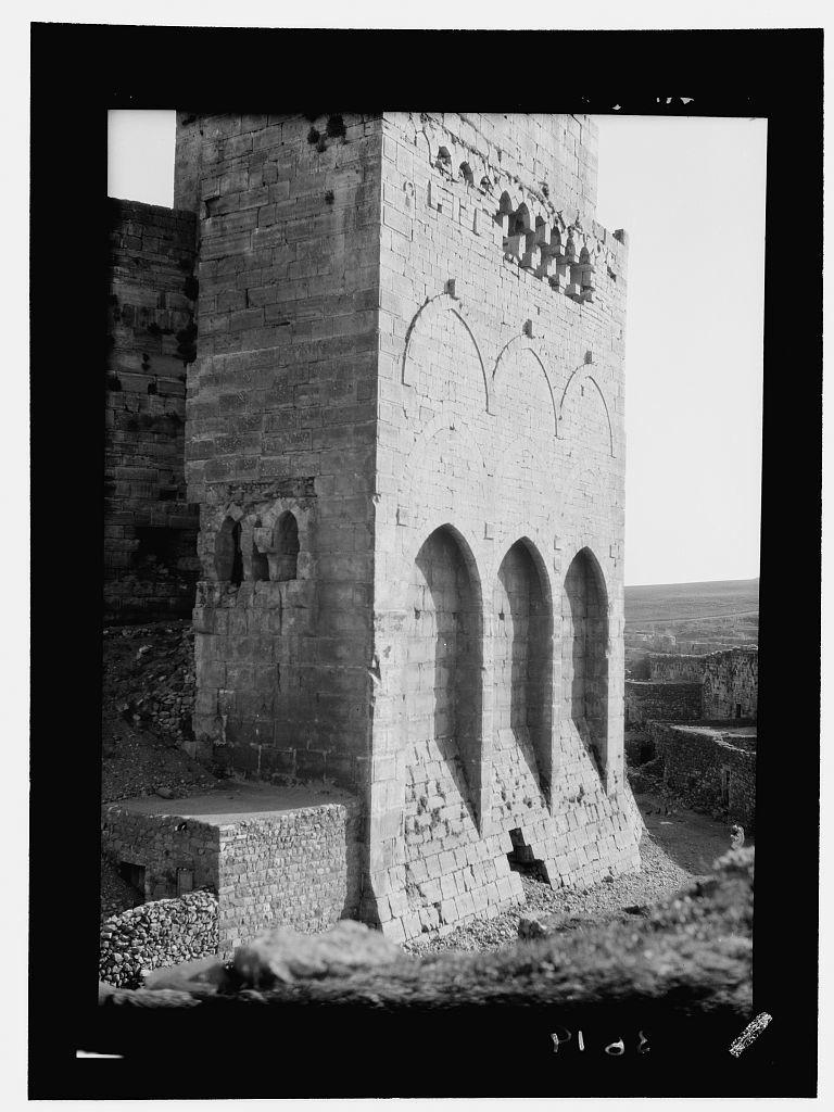 Krak de Chevaliers. (Kala't el-Husn). Inner walls of Kalat el-Husn