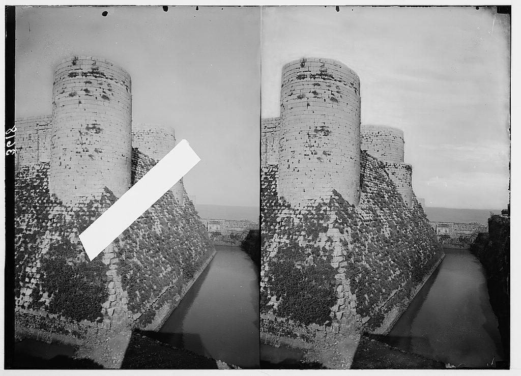 Krak de Chevaliers (Kala't el-Husn). The inner moat flooded