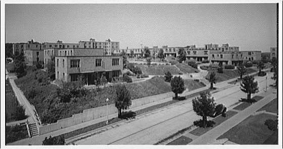 Langston Housing Project. Elevated view of Langston Housing Project complex