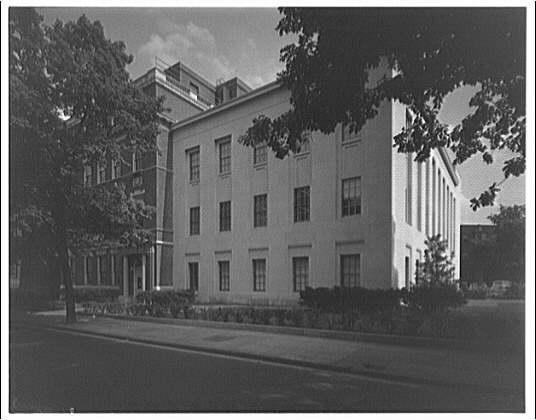 Leon Chatelain Jr., architect. End view of telephone exchange at 1420 Columbia Rd.
