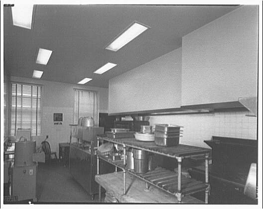 Leon Chatelain Jr., architect. Kitchen in telephone exchange at 1420 Columbia Rd.