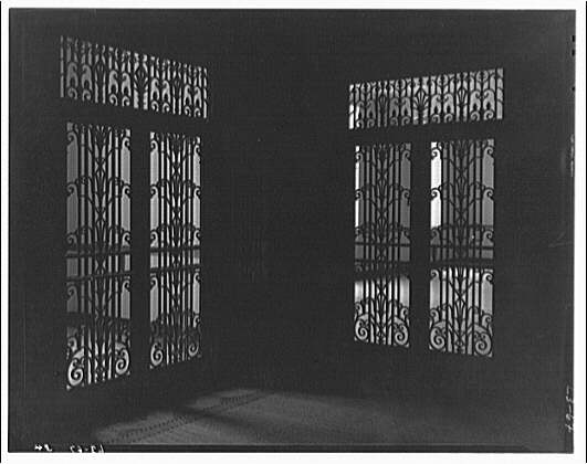 Library of Congress (John Adams Building). Two iron grille doors, Library of Congress annex