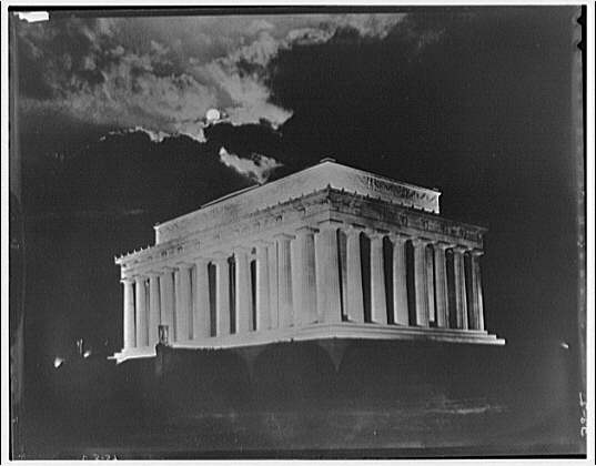Lincoln Memorial. Night view of front and right of Lincoln Memorial II